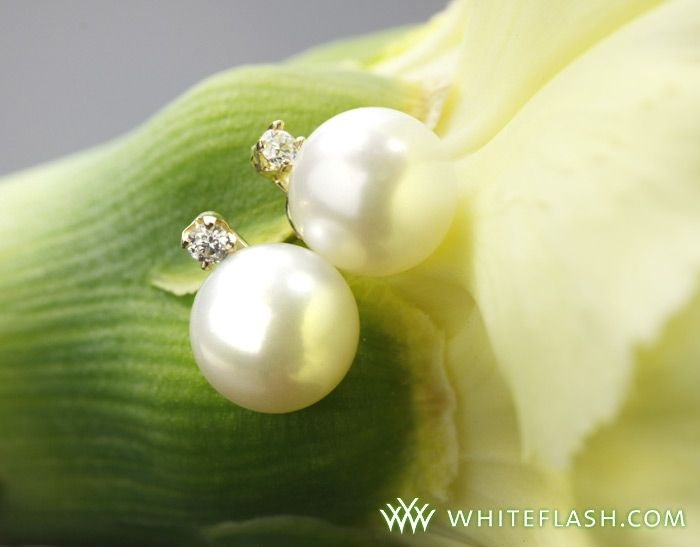 Pearl and diamond bridal earrings from Whiteflash- one lucky bride will win her very own pair!