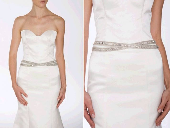 Wedding Dress Accessories Belt : Add sparkle to your wedding dress with a chic bridal belt onewed