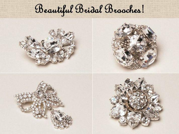 Dazzling Swarovski bridal brooches you'll treasure forever