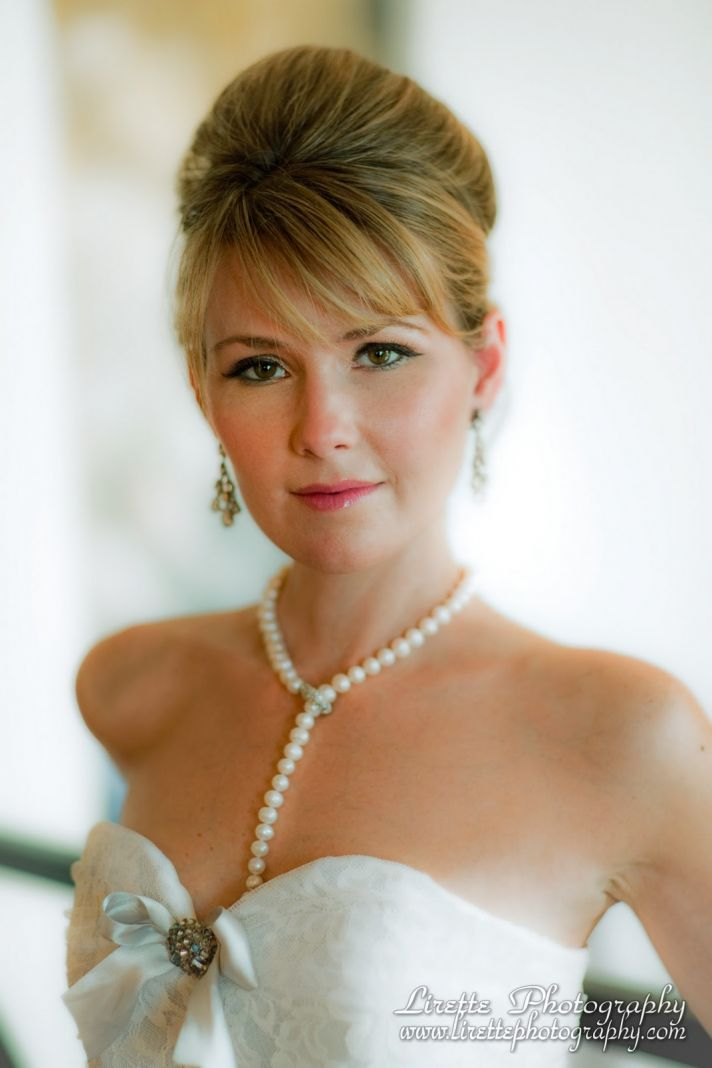 Chic, vintage-inspired pearl bridal necklace