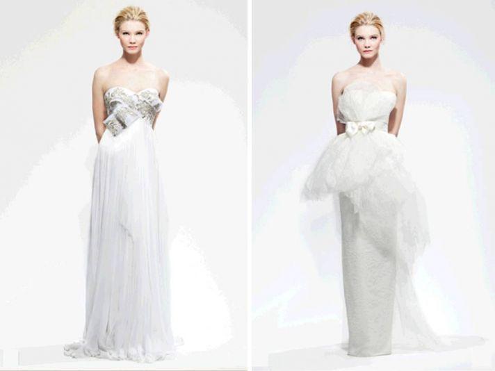 Fall 2010 column wedding dresses by Marchesa
