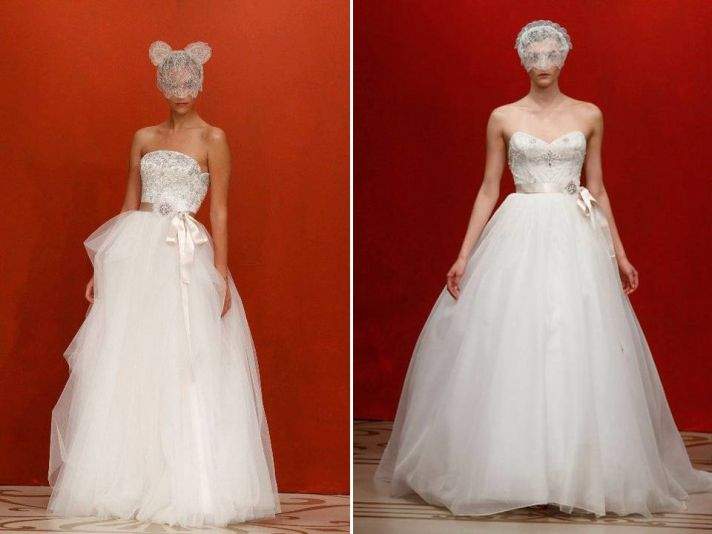 Romantic fairytale-inspired ballgown wedding dresses by Reem Acra