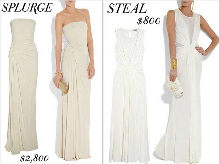 Strapless jersey matte sheath wedding dress, perfect for a beach wedding