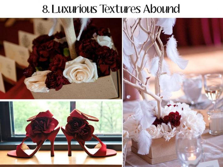 Luxe textures, from the wedding dress to the tablescape, will be huge for 2011 weddings