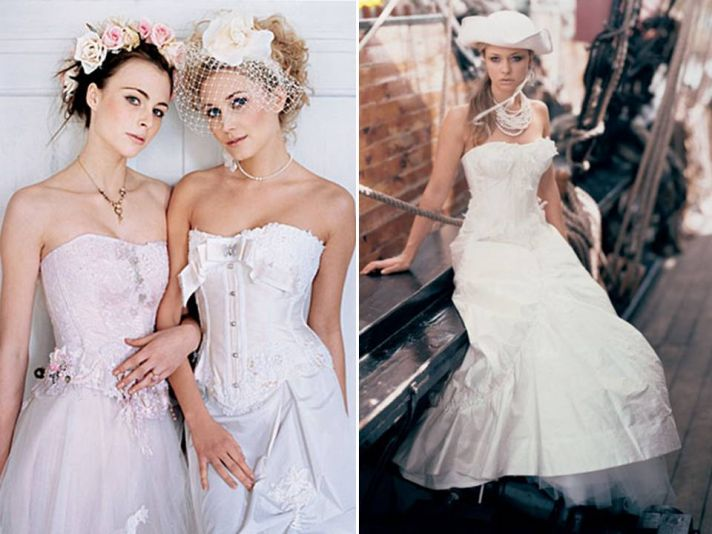 Romantic corset wedding dresses by British designer Terry Fox