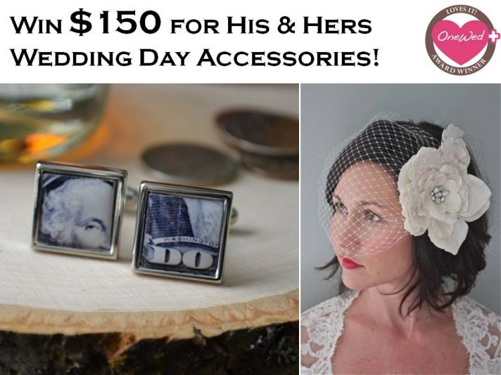 Win $150 to Bird 'n Bloke, an online boutique with custom wedding accessories for brides and grooms