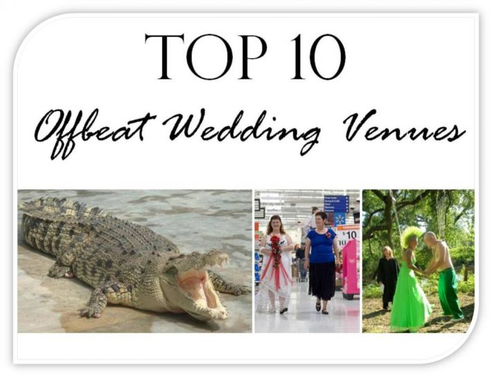 Check out the 10 most obscure wedding venues!
