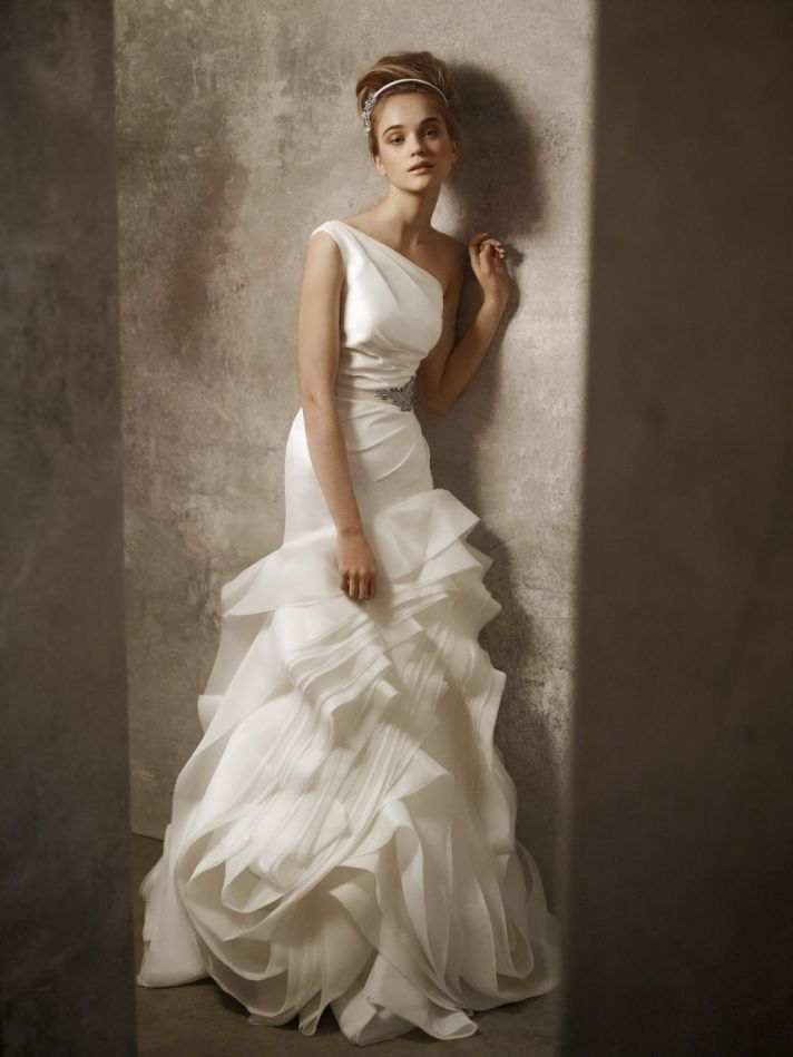 White by vera wang wedding dresses have arrived onewed for Affordable vera wang wedding dresses