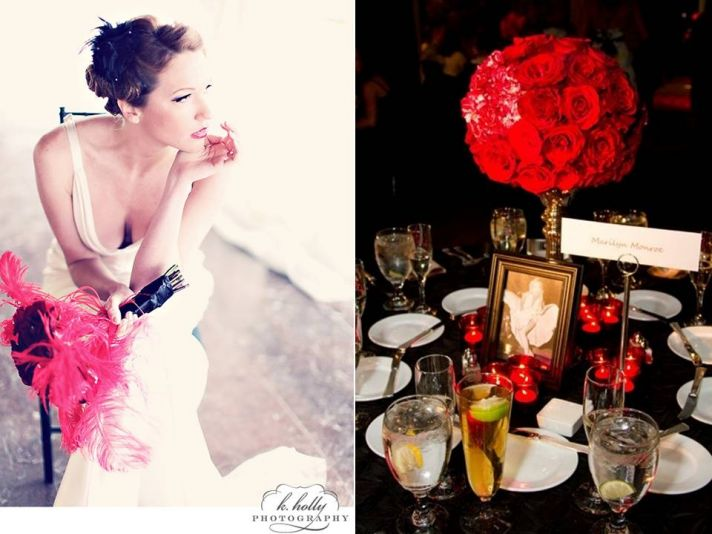 Wedding Reception Decor Styling a Vintage Hollywood Wedding
