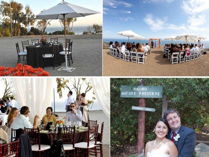 Picturesque eco-chic wedding venue: Malibu Nature Preserve