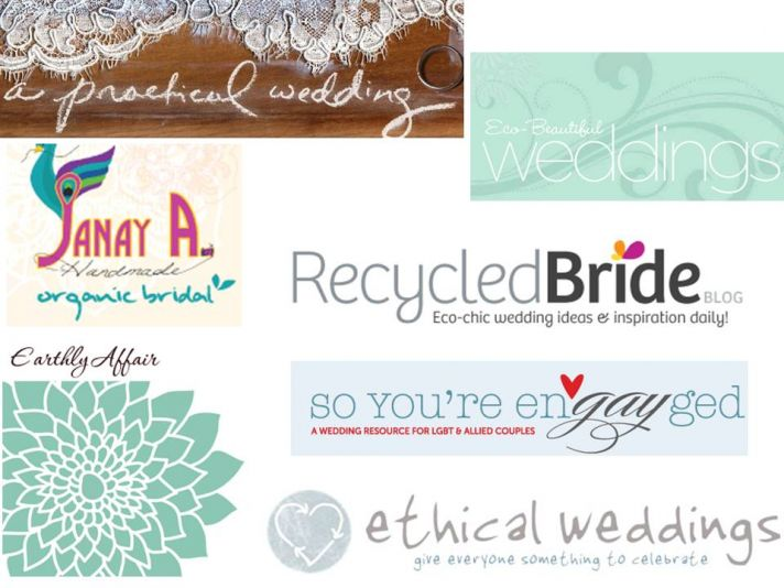 Earth-friendly and marriage equality is what these bridal blogs are all about