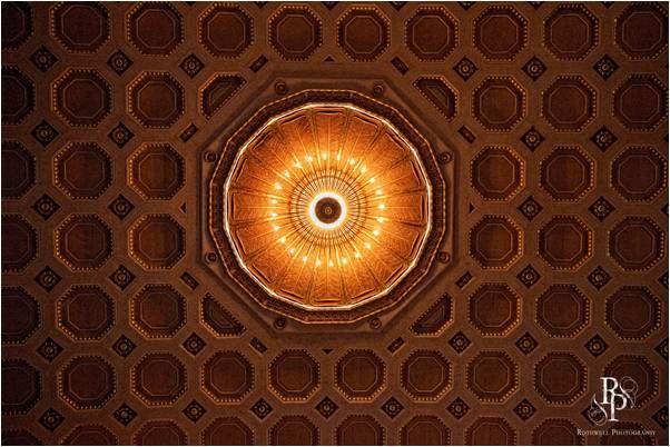 Historical auditorium in Ohio serves as elegant wedding ceremony venue