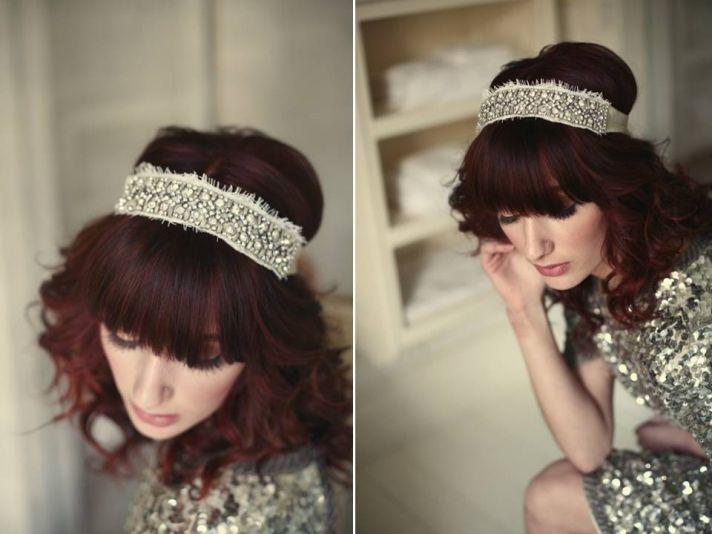 20's-inspired rhinestone encrusted bridal headband