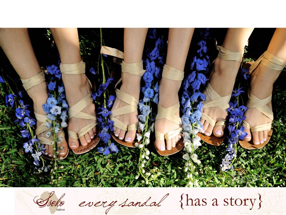 Credit Win Custom Wedding Sandals from Sseko Designs