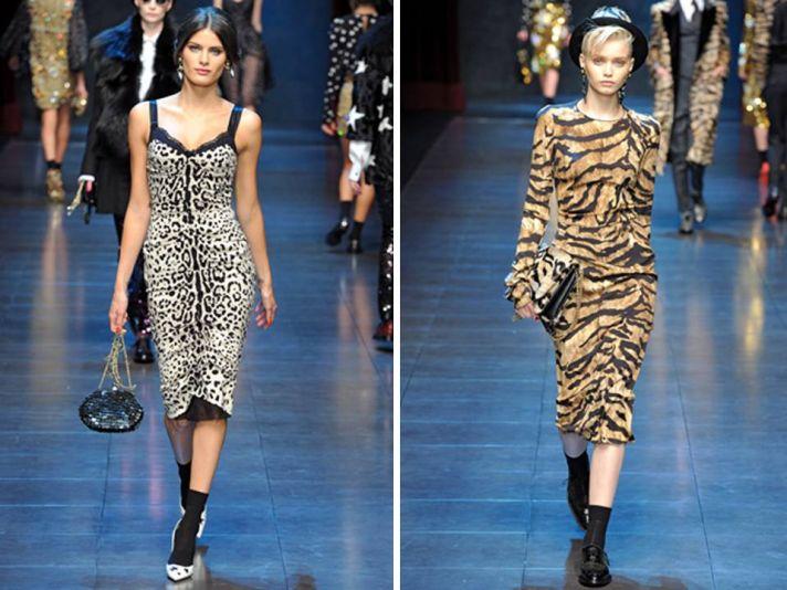On-trend animal print on Dolce & Gabbana 2011 RTW catwalk