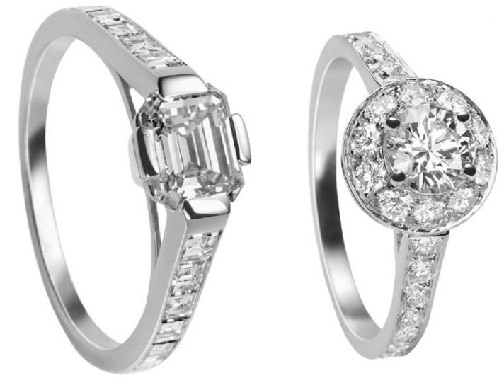 Simple and stunning engagement rings by Van Cleef and Arpel
