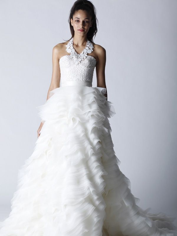 Glamourous Fall 2011 Melissa Sweet wedding dress with bustier corset bodice
