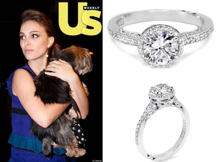Love Natalie Portman's round diamond engagement ring? Get the looK!