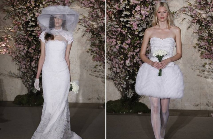 2012-wedding-dresses-oscar-de-la-renta-bridal-summer-wedding-romantic-lace-mermaid-short-reception-dress