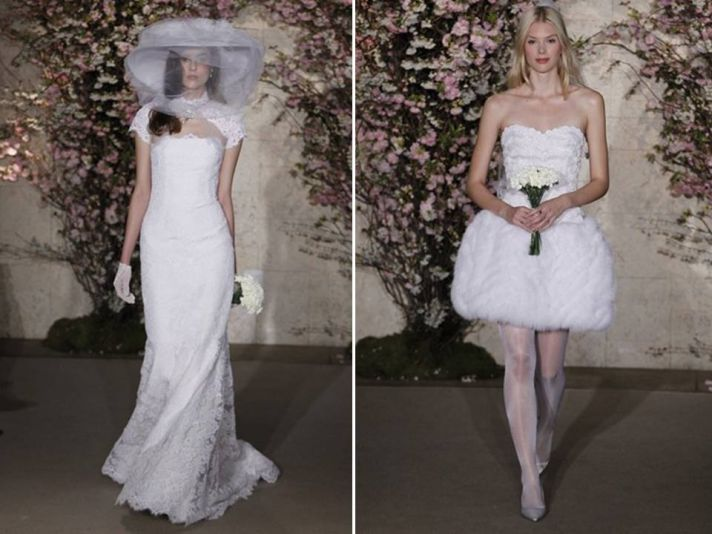 Angelfashionline for Oscar de la renta short wedding dress