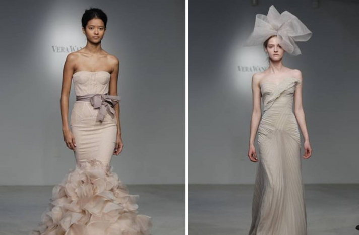 vera-wang-wedding-dress-spring-2012-romantic-bridal-gown-blush-pink-mermaid-taupe-column-bridal-hat