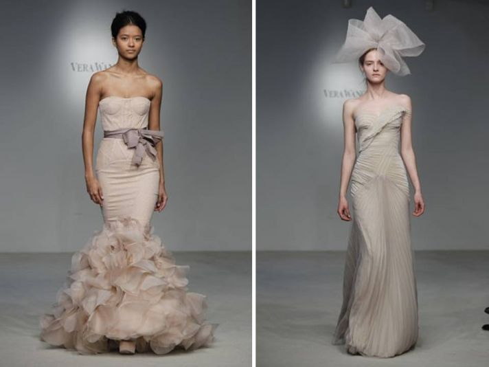 Vera wang wedding dresses spring 2012 collection is here for Pink wedding dress vera wang