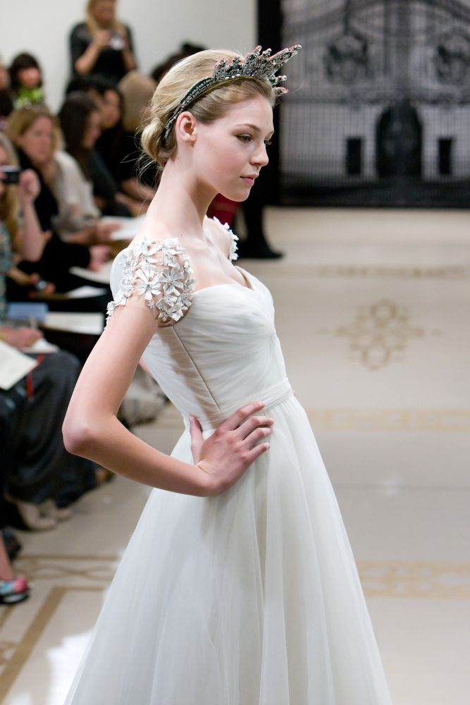 Opulent full a-line Spring 2012 wedding dress with royal regal details