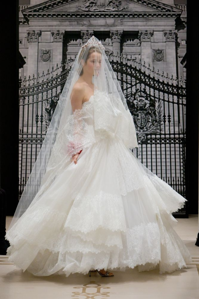 Romantic Spring 2012 Reem Acra bridal gown with luxe embellishments