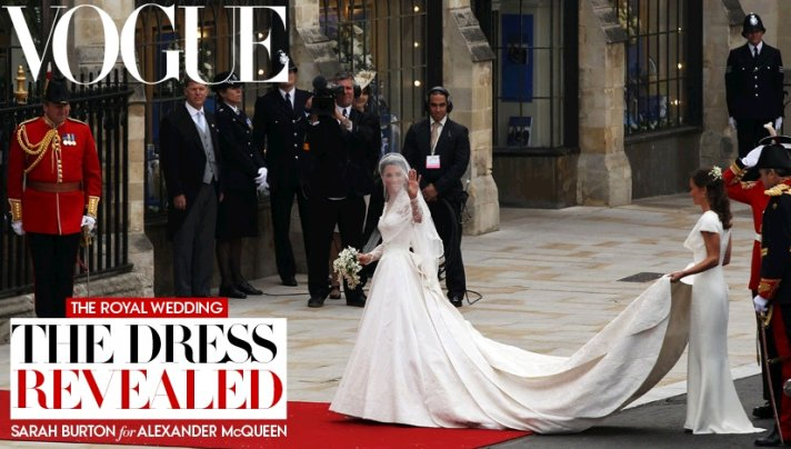 Kate Middleton's royal wedding dress revealed and it's Sarah Burton for Alexander McQueen!