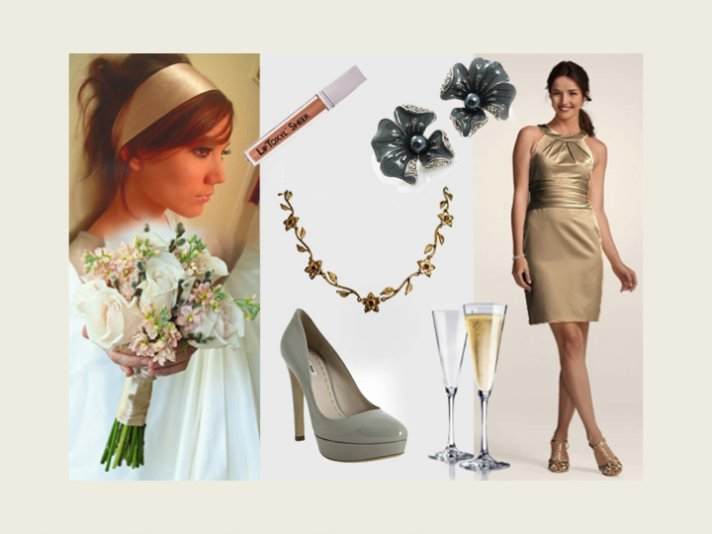 Beige and grey is a chic, sophisticated wedding color palette for summer and spring