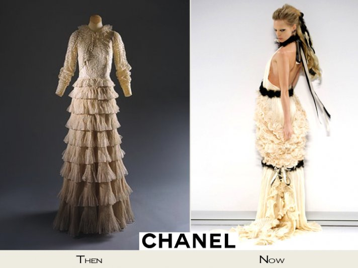 Romantic Chanel wedding dresses, one vintage one current