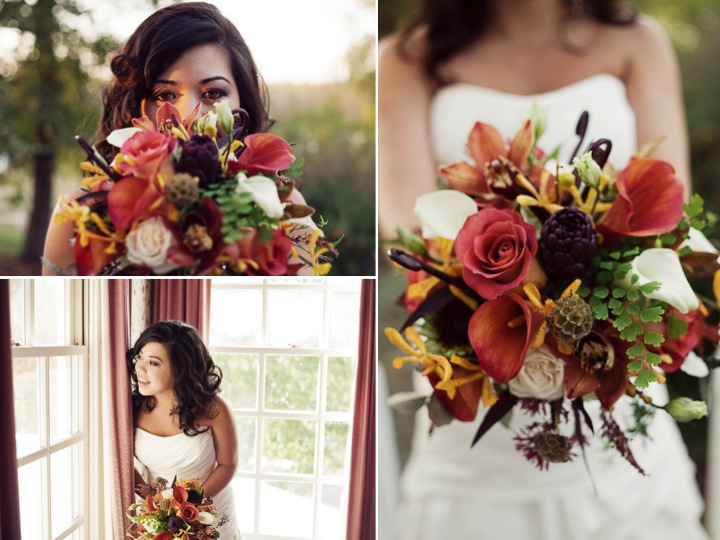 Outdoor DIY fall wedding in