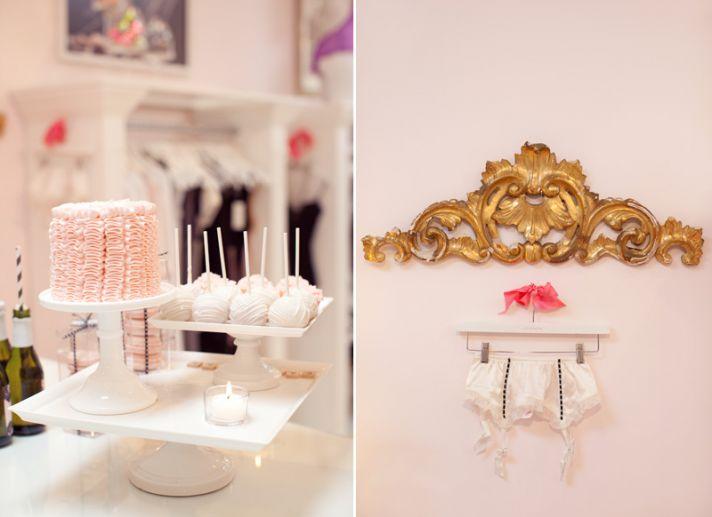 Delicious dessert table at lingerie boutique bachelorette party