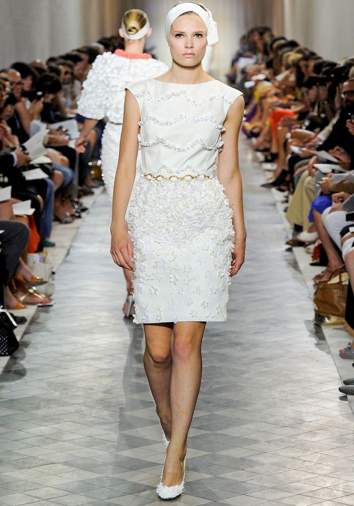 White wedding reception dress