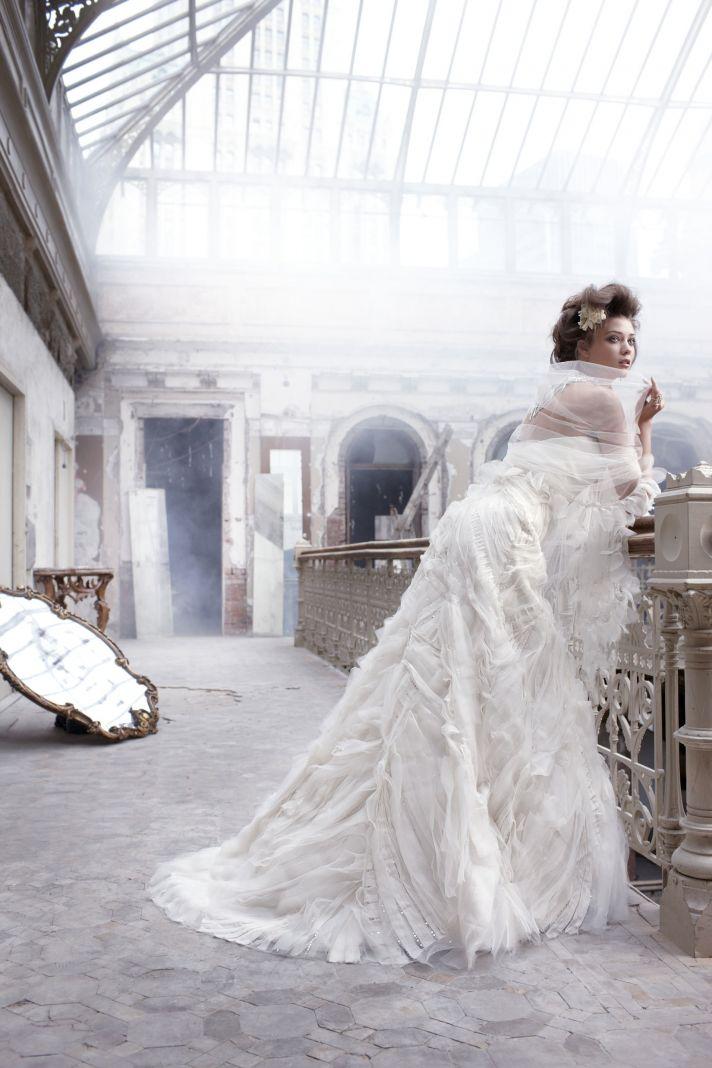 Texture-rich wedding dress