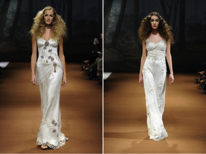 Credit Bohemianstyle wedding dresses by Claire Pettibone