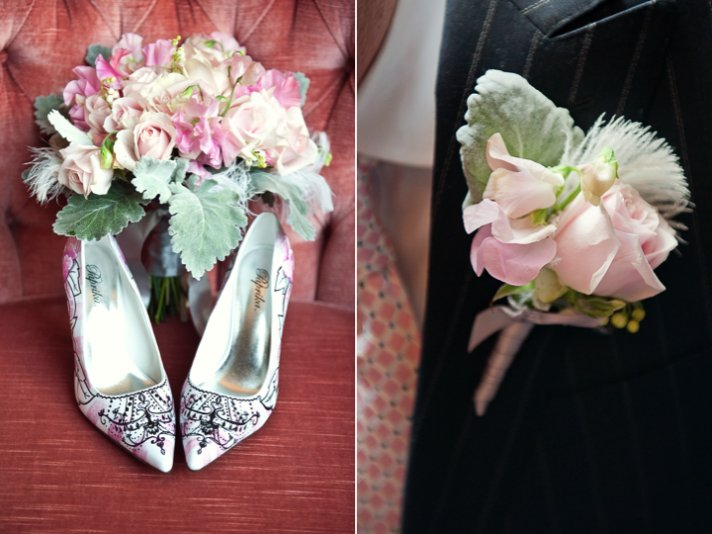 I Do bridal shoes, romantic groom's bout