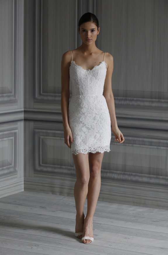 Little white wedding reception dress inspired by Pippa Middleton