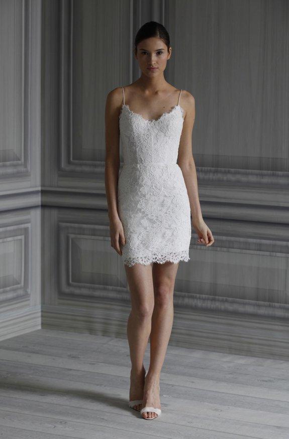 Короткие кружевные платья 8