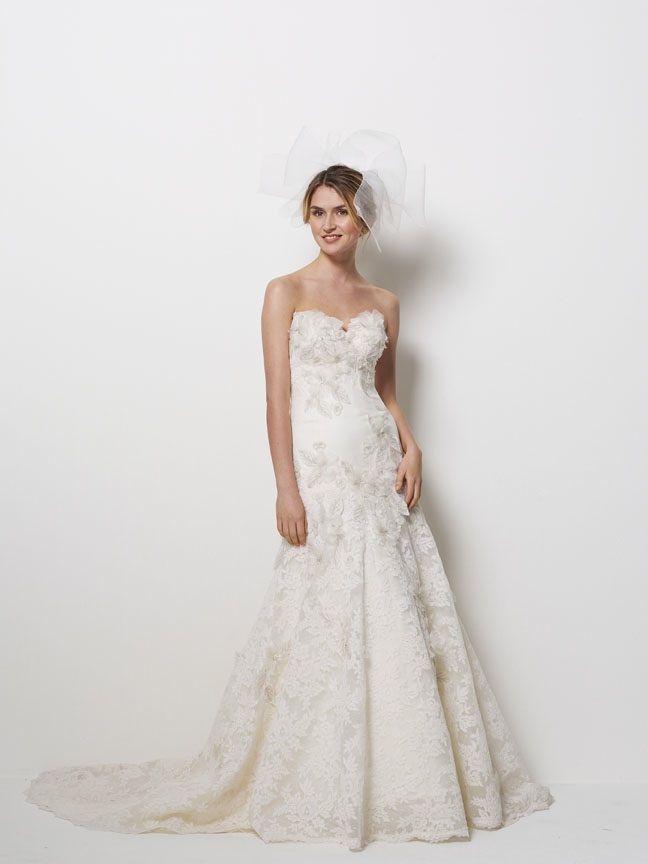 Romantic ivory lace wedding dress