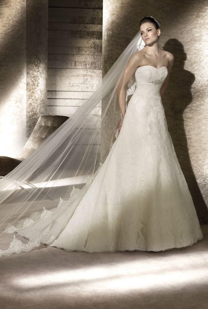 A-line lace San Patrick wedding dress, 2012 bridal gowns