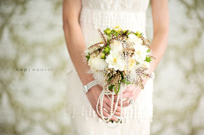 Ivory and blush pink romantic bridal bouquet