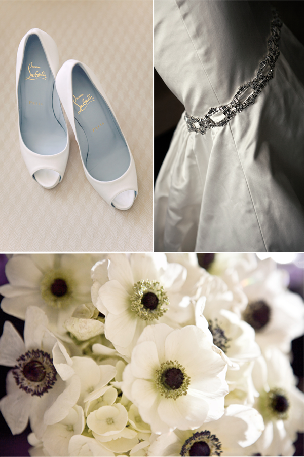 peeptoeweddingshoesanemoneweddingflowersblack