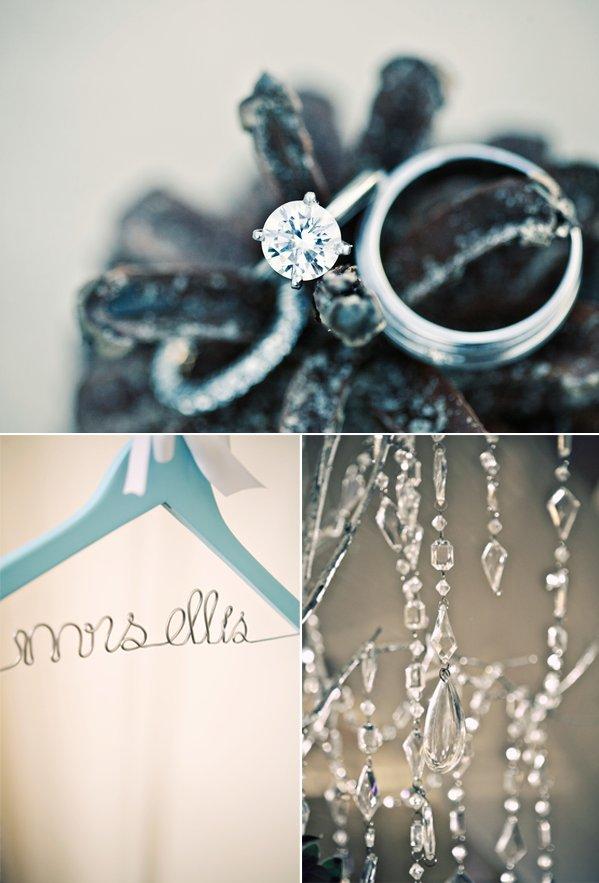 Round diamond engagement ring, luxe wedding reception decor