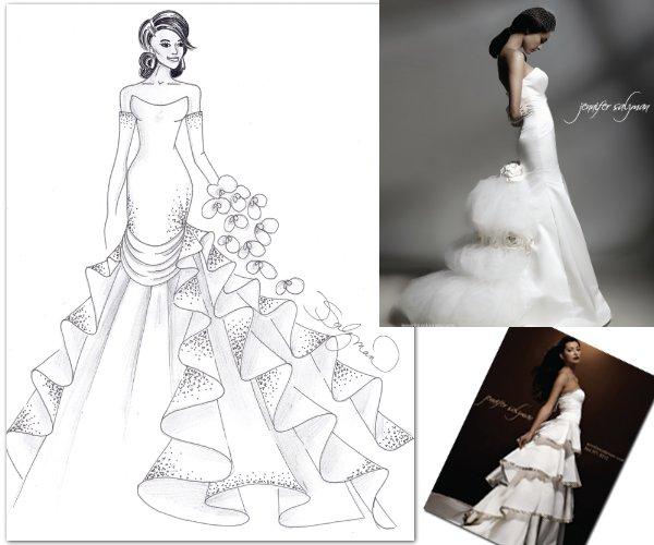 Jennifer Salzman's interpretation of Kim Kardashian's wedding dress