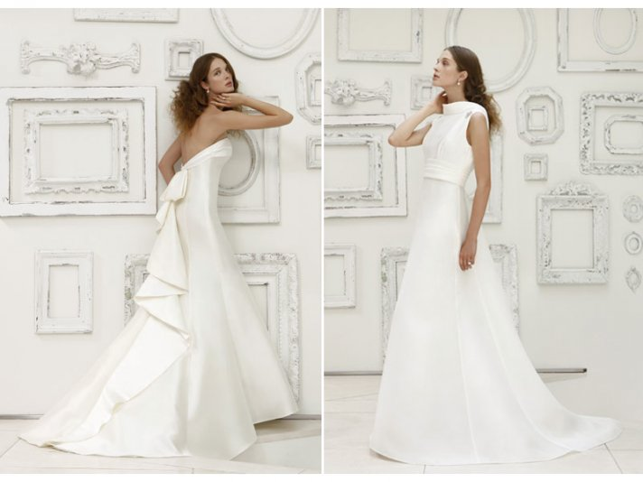 Timeless ivory a-line wedding dresses