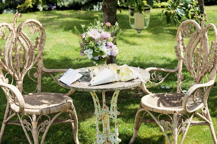 Enchanted garden wedding reception vibe at Kate Moss' wedding