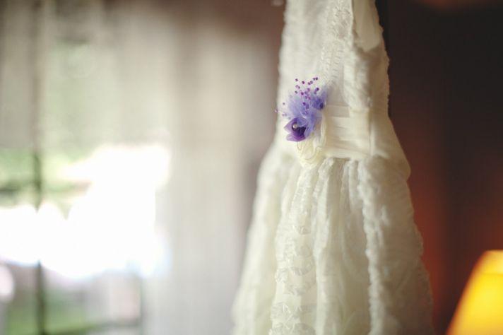Ivory vintage-inspired lace wedding dress