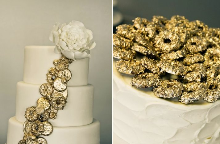 metallic-wedding-cakes-elegant-wedding-style