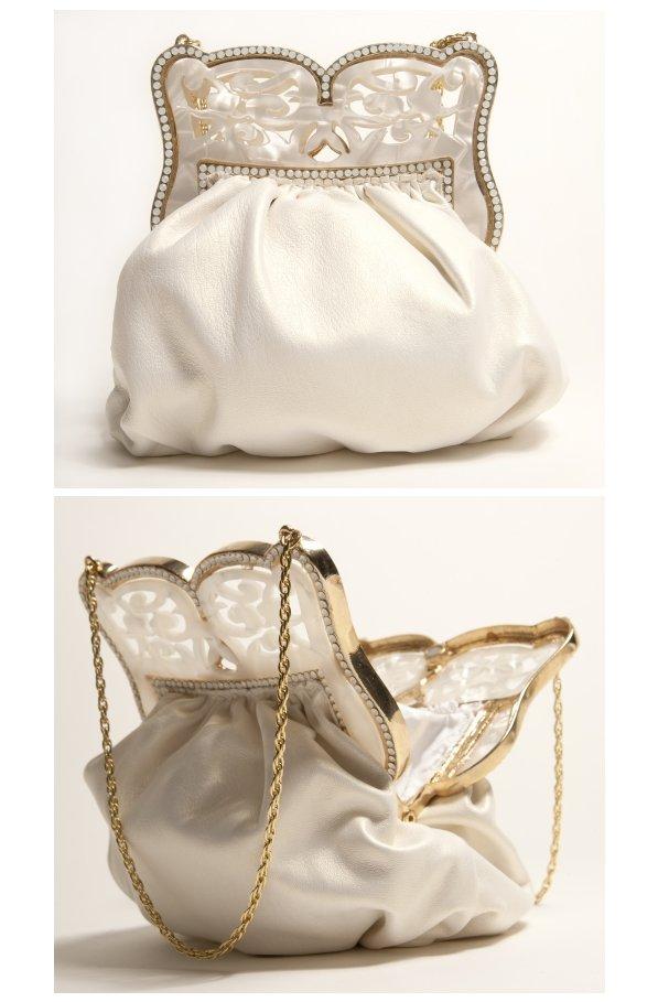 Elegant ivory wedding clutch